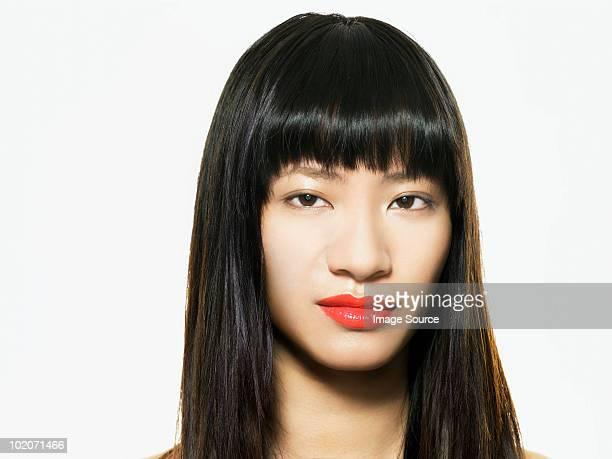 Beautiful young woman, head shot