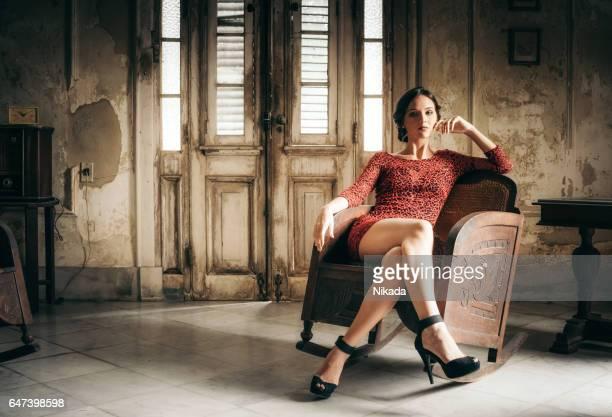 beautiful young woman in Havana, Cuba