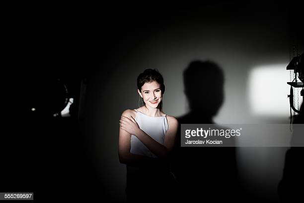 beautiful young woman in studio - ostrava stock pictures, royalty-free photos & images