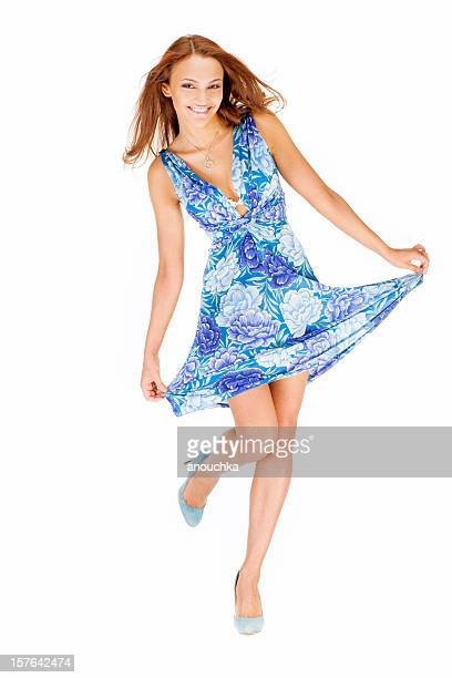 Beautiful Young Woman in Sundress portrait