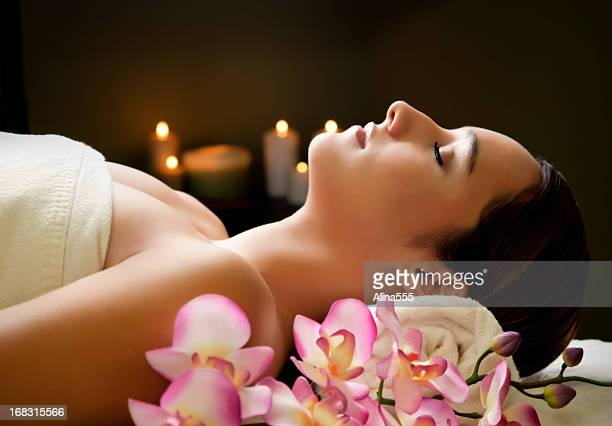 beautiful young woman in the spa - alina stock pictures, royalty-free photos & images