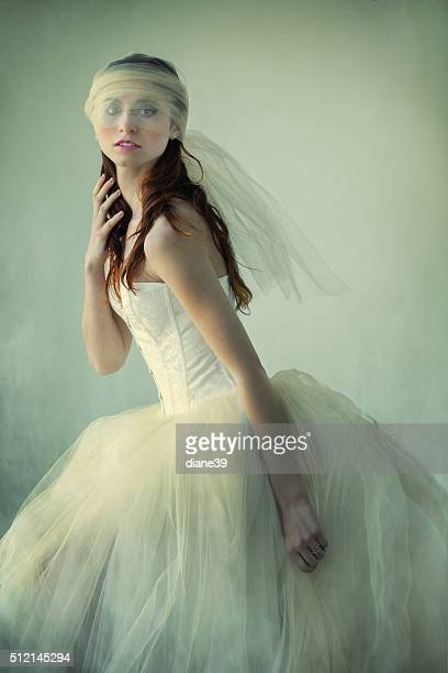 Beautiful Young Woman in Tulle