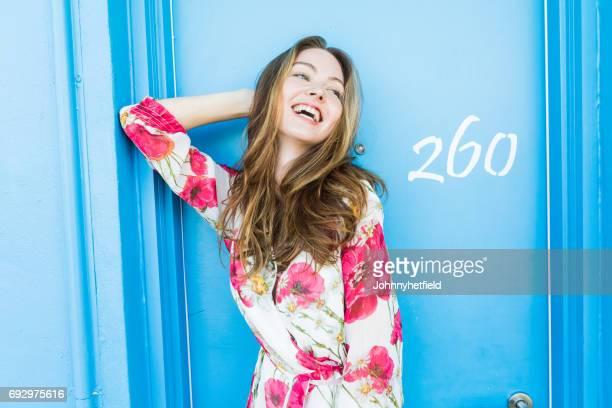 Schöne Junge Frau Lachen