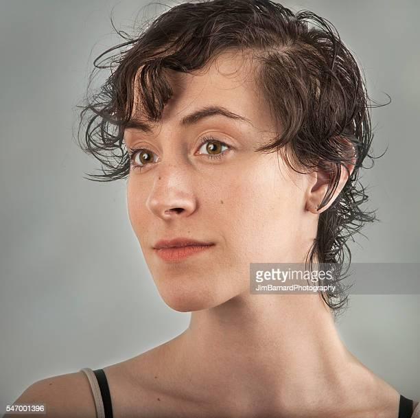 Beautiful Young Woman Looking Contemplative