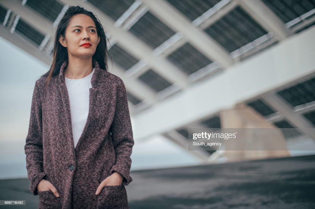 Schöne junge Frau : Stock-Foto