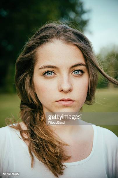Beautiful young woman portrait