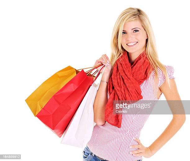 Schöne Junge Frau shopping