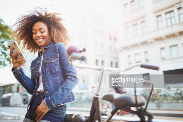 beautiful young woman with afro, summer time. - generation z stock pictures, royalty-free photos & images
