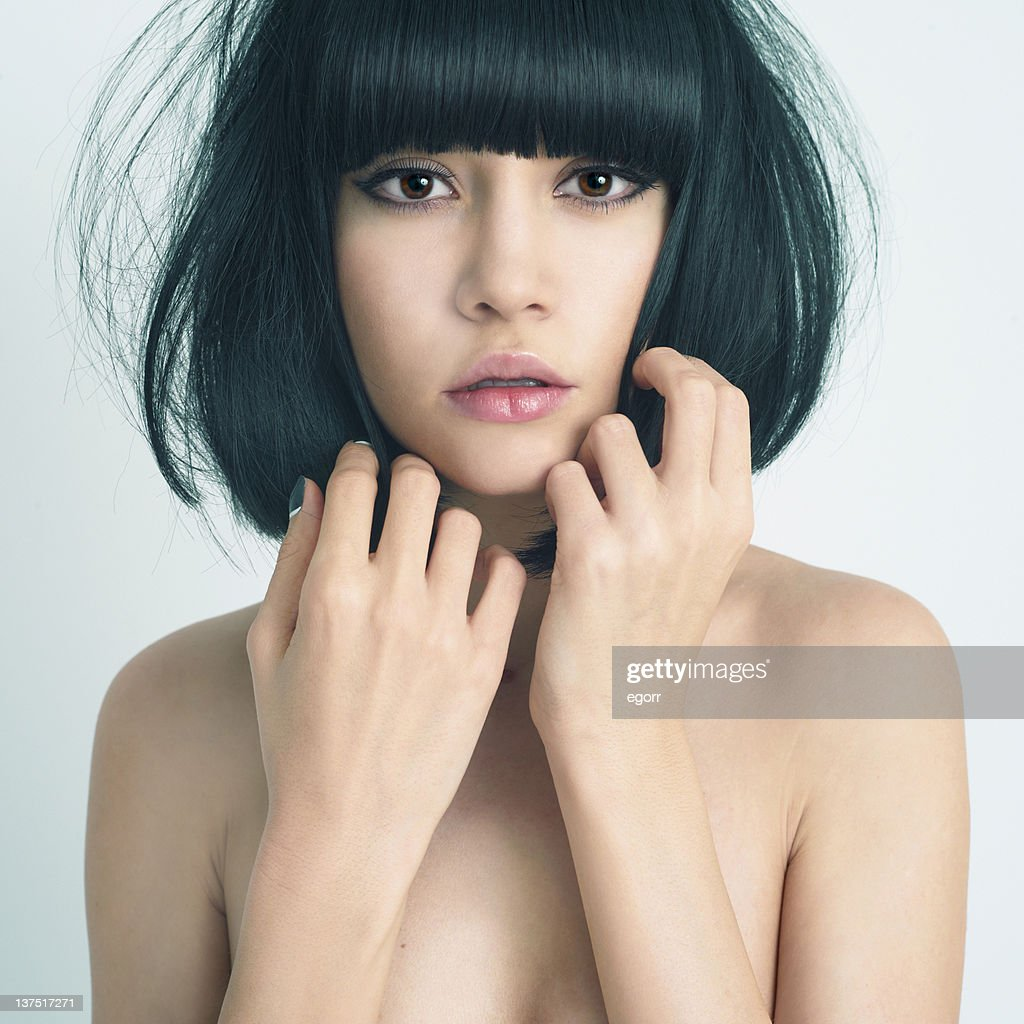 Beautiful Young Woman With Cute Short Haircut Stock Photo Getty Images