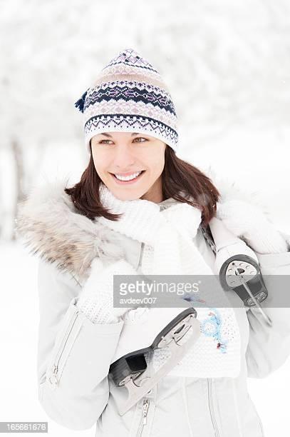 Schöne Junge Frau mit Rochen