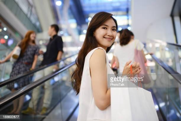Beautiful Young Women With Shopping Bag - XXXLarge