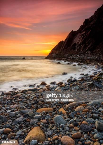 Beautifull sunset at Grota Beach