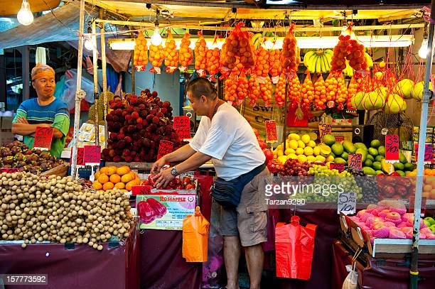 Beautifully decorated fruit stand