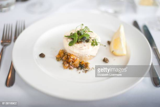 Beautifully presented fish mousse
