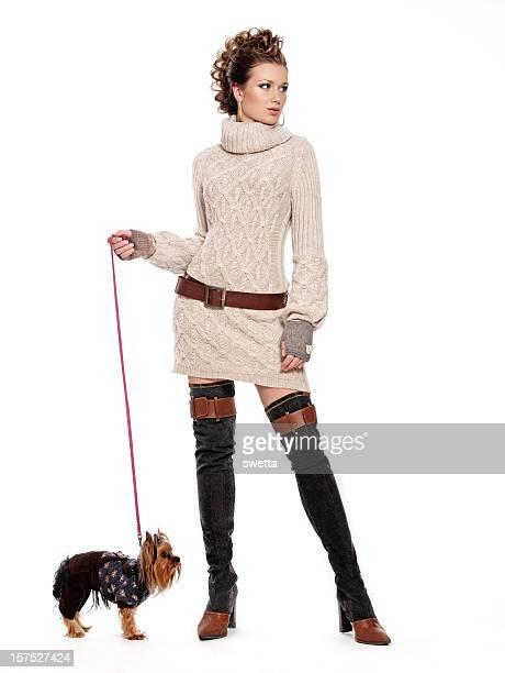 Beauté et son chien.