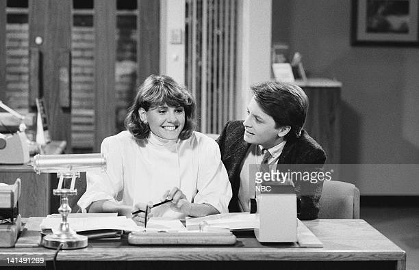 TIES Beauty and the Bank Episode 5 Aired Pictured Melinda Culea as Rebecca Ryan Michael J Fox as Alex P Keaton Photo by NBCU Photo Bank