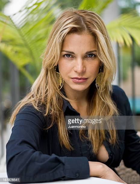 beauty at her thirties - beautiful puerto rican women stock photos and pictures