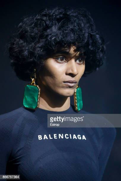 Beauty at the Balenciaga show as part of the Paris Fashion Week Womenswear Spring/Summer 2018 on October 1 2017 in Paris France
