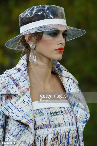 Beauty at the Chanel Paris show as part of the Paris Fashion Week Womenswear Spring/Summer 2018 on October 3 2017 in Paris France