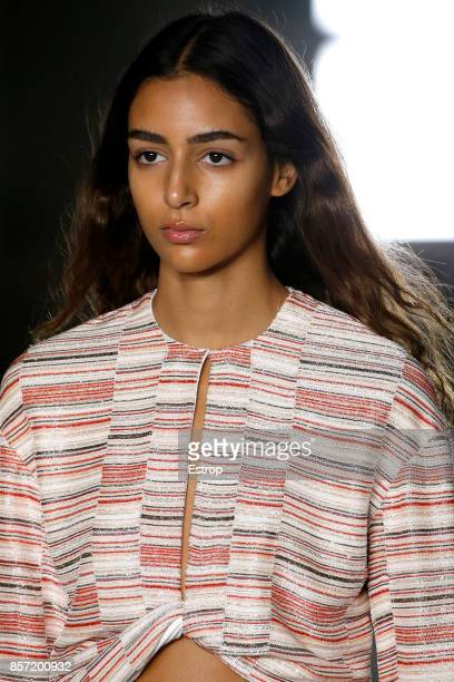 Beauty at the Giambattista Valli Paris show as part of the Paris Fashion Week Womenswear Spring/Summer 2018 on October 2 2017 in Paris France