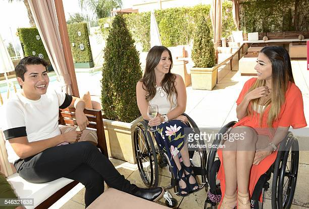 Beauty blogger Alannized web personality Chelsie Hill and Steph Aiello at Beautycon Media hosts Tyra Banks TYRA Beauty for brunch Los Angeles CA at...