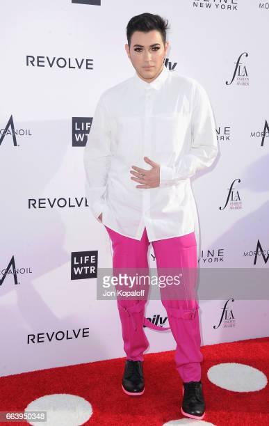 Beauty blogger Manny Mua arrives at the Daily Front Row's 3rd Annual Fashion Los Angeles Awards at the Sunset Tower Hotel on April 2 2017 in West...