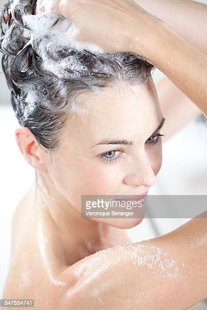 beauty care - shampoo stock-fotos und bilder