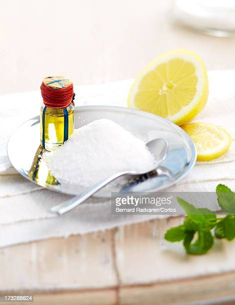 beauty care preparation with sugar and lemon oil