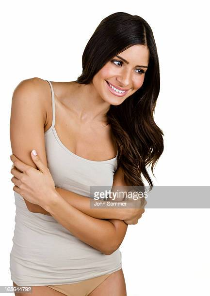 beauty concept - camisole stock photos and pictures