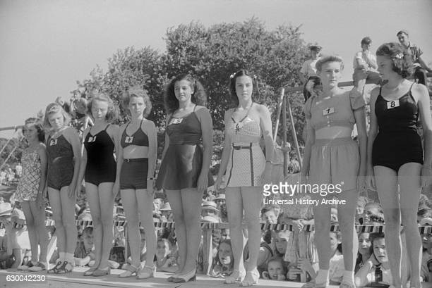 Beauty Contest During July 4th Celebration Salisbury Maryland USA by Jack Delano for Farm Security Administration July 1940