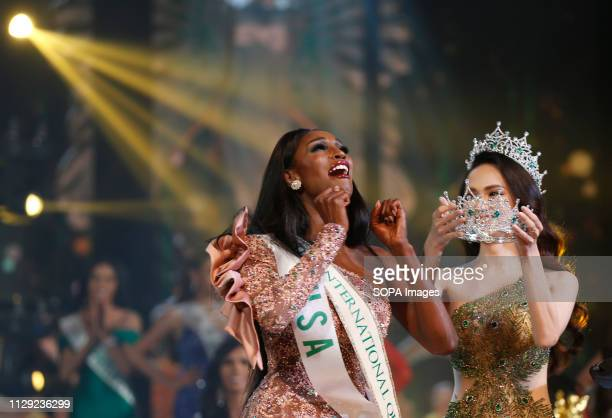 A beauty contestant from USA Jazell Barbie Royale is seen being crowned after winning the annual Miss International Queen 2019 transvestite contest...