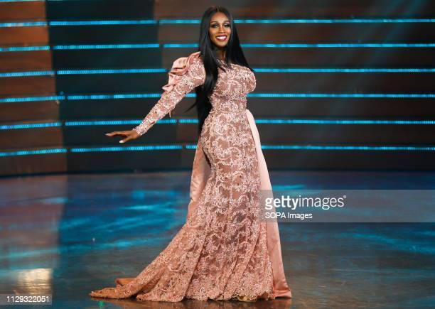 A beauty contestant from USA Jazell Barbie Royale seen performing on the stage during the annual Miss International Queen 2019 transvestite contest...