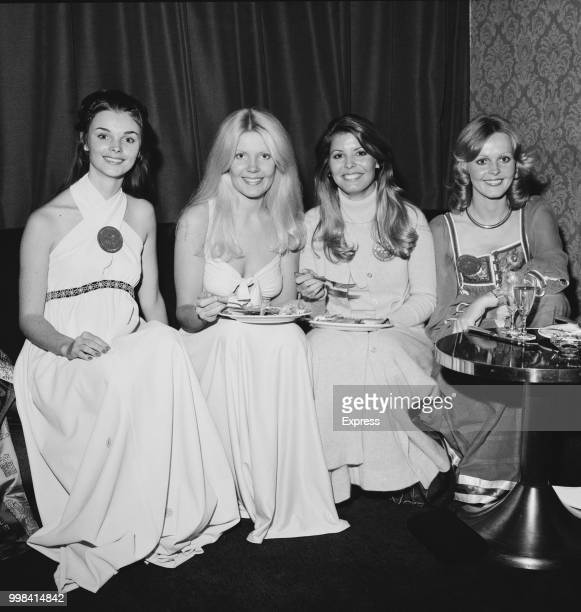 Beauty contestants from left Deborah Anne Ducharme of Canada Veronica Ann Cross of the United Kingdom Marjorie Wallace of the United States and...
