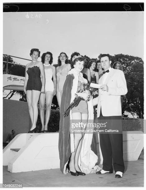 Beauty contests 20 April 1952 Sonia Smevik 18 years 'Miss California Tip Topper of '52'John Hubbard Peggy McConnellPat HostetterMarlize SchradToby...
