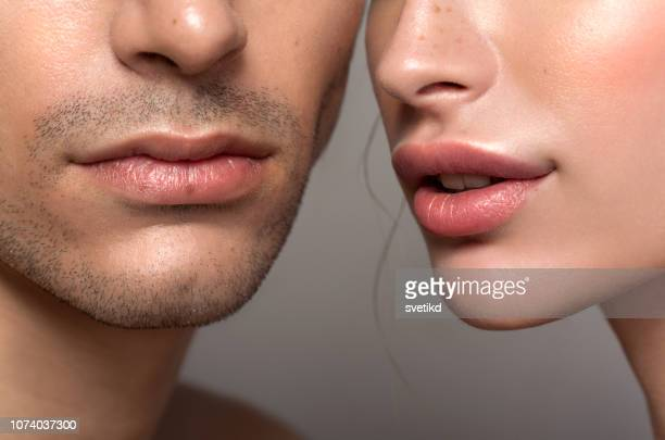 beauty couple - human lips stock pictures, royalty-free photos & images