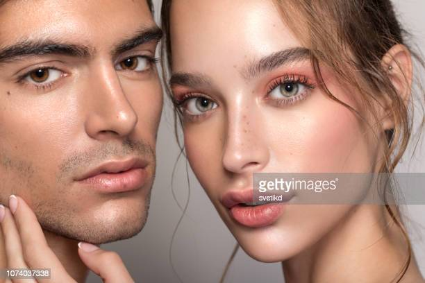 beauty couple - beauty stock pictures, royalty-free photos & images
