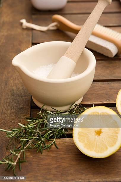 beauty cream, herbs and citrus - the natural world stock pictures, royalty-free photos & images