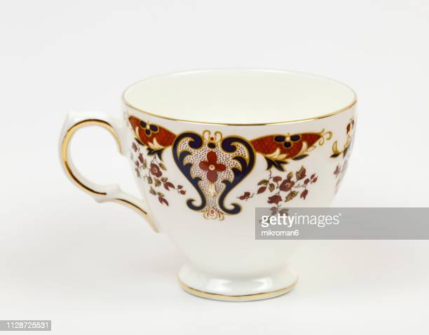 beauty cup on white background - saucer stock pictures, royalty-free photos & images