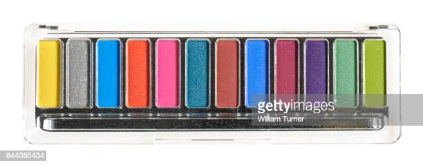 A beauty cut out image of a multi coloured compact