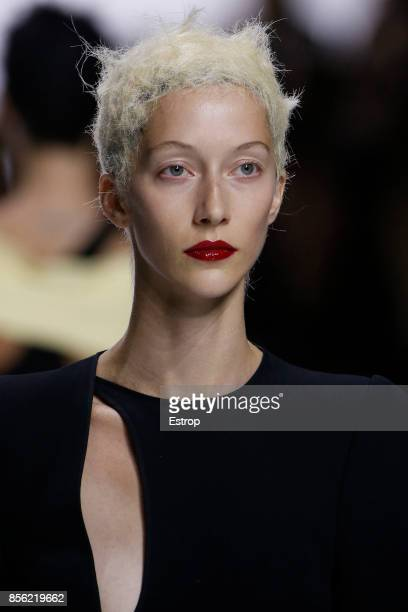 Beauty Detail at the Haider Ackermann show as part of the Paris Fashion Week Womenswear Spring/Summer 2018 on September 30 2017 in Paris France