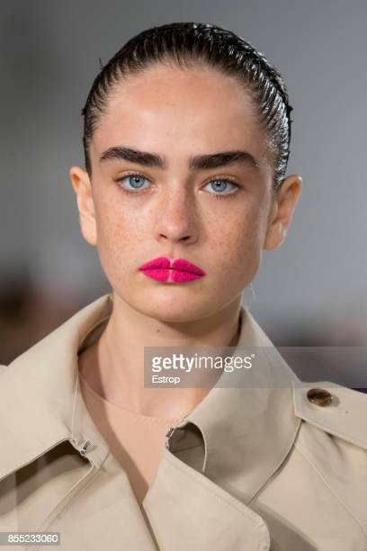 Beauty Detail at the Maison Margiela show as part of the Paris Fashion Week Womenswear Spring/Summer 2018 on September 27 2017 in Paris France