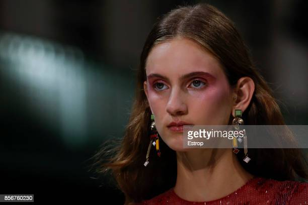 Beauty Detail at the Valentino show as part of the Paris Fashion Week Womenswear Spring/Summer 2018 on October 1 2017 in Paris France