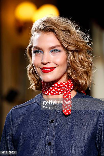 Beauty detail at the Vanessa Seward show as part of the Paris Fashion Week Womenswear Spring/Summer 2017 on October 4 2016 in Paris France