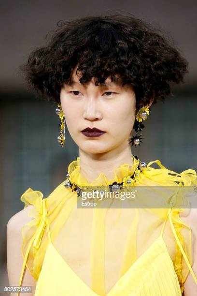 Beauty Detail during the Kenzo Menswear Spring/Summer 2018 show as part of Paris Fashion Week on June 25, 2017 in Paris, France.