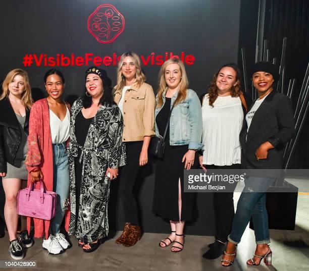Beauty Editors Allie Flinn Sara Tan Marie Lodi Jacki Cryan Jamie Stone Lindsay Weinberg and Alanah Joseph attend Shiseido Masterclass on September 25...