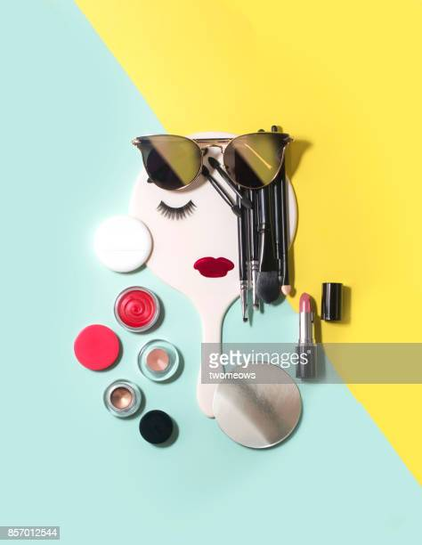 beauty, fashion and retail conceptual still life. - cosmetics stock pictures, royalty-free photos & images