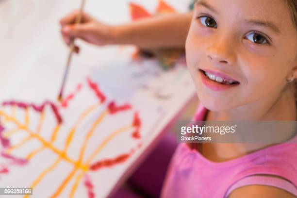 Beauty girl love to paint