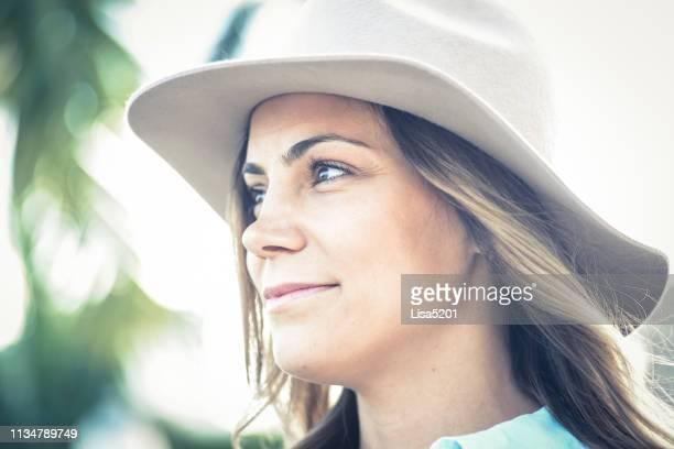 Beauty in a big hat