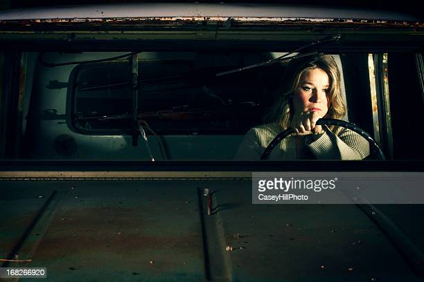 beauty in the breakdown - redneck woman stock photos and pictures