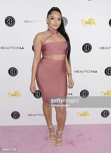 Beauty influencer Karla Jara at Beautycon Media hosts Tyra Banks TYRA Beauty for brunch Los Angeles CA at Sunset Tower Hotel on July 8 2016 in West...